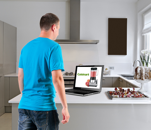 Kitchen With Computer