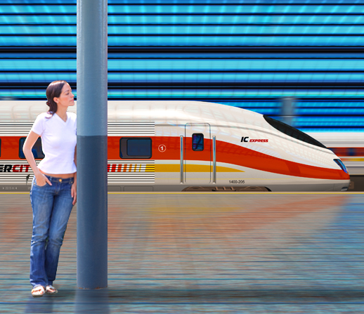 Train Platform No Poster